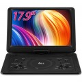 "DR. J 17.9"" Region Free Portable DVD Player with 6 Hours Rechargeable Battery, Large 15.4"" Screen DVD Player"